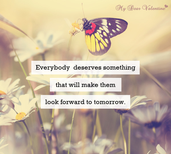 Life Quotes - Everybody deserves something