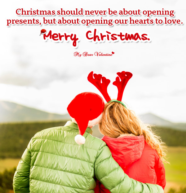 Christmas Picture Quote - Christmas should never