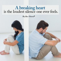 Love hurt picture quote - A breaking heart