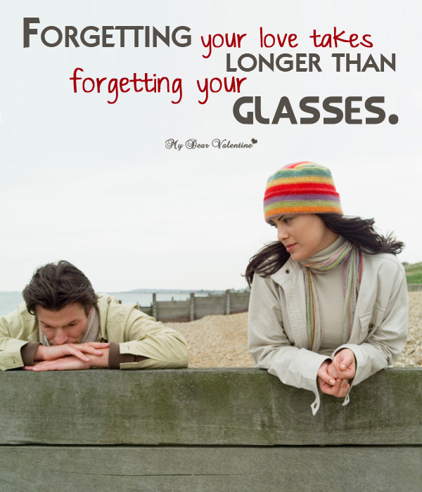 Love Hurt Picture Quote - Forgetting Love