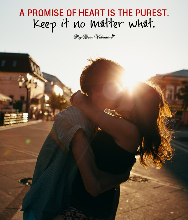 Love Picture Quote - Promise of Heart
