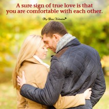Love Picture Quote - A sure sign of true love