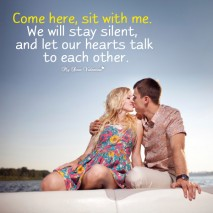 Love Picture Quotes - Come here sit with me