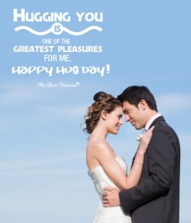 Love Picture Quote - Hugging You