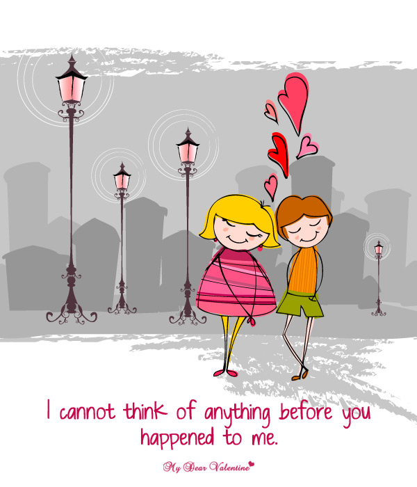 Love Picture Quote - Before you happened to me