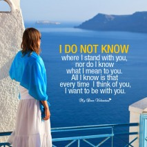 Love Picture Quote - I do not know