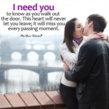 Love Picture Quotes - I need you to know