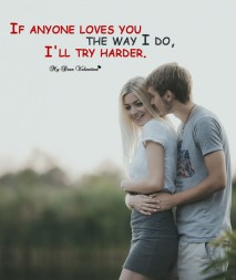 Love Picture Quote - Try harder