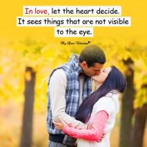 Love Picture Quotes - In love let the heart