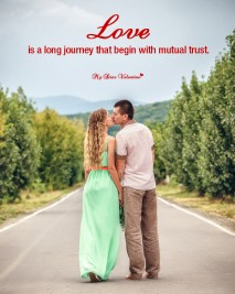 Love Picture Quote - Love is a long journey