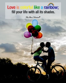Love Picture Quote - Love is colorful