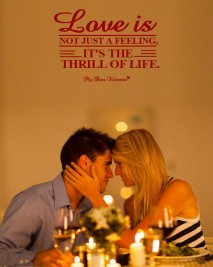 Love Picture Quote - Love Thrills