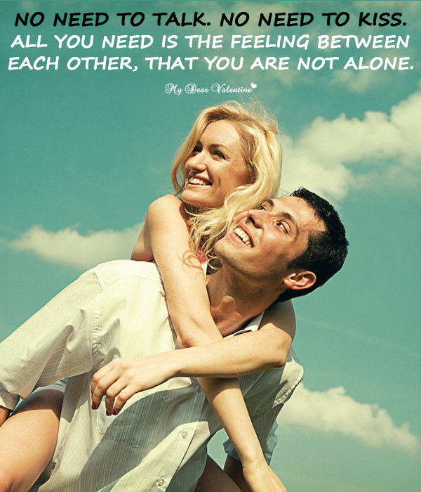 Love Picture Quote - No need to talk