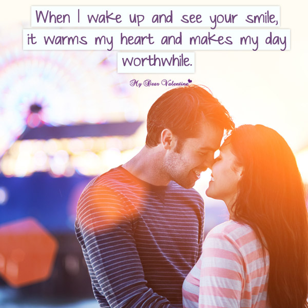 Love Picture Quote - When i wake up