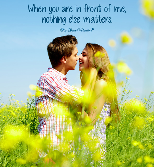 Love Picture Quote - Nothing else matters