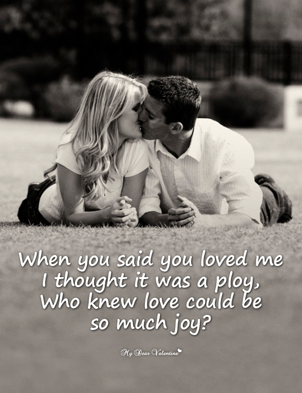 Love Picture Quote - When you said you loved me