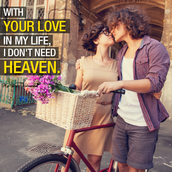 Love Picture Quote - Love is Heaven
