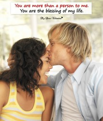 Love Picture Quote - Blessing of my life