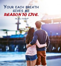 Love Picture Quote - Reason to live