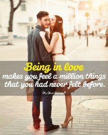 Love Picture Quotes - Being in love makes