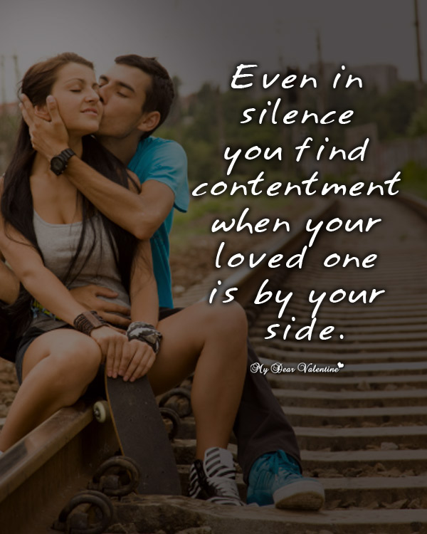 Love Picture Quotes - Even in silence