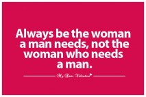 Love Picture Quotes for Her - Always be the woman