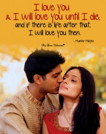 Love Picture quotes - I love you and i will