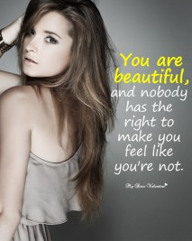 Love Hurt Picture Quotes for her - You are beautiful