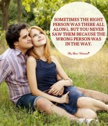 Love Picture Quotes for Him - Sometimes the right person
