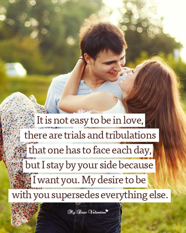 Love Picture Quotes - It is not easy to be in love