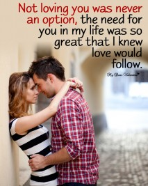 Love Picture Quotes - Not loving you