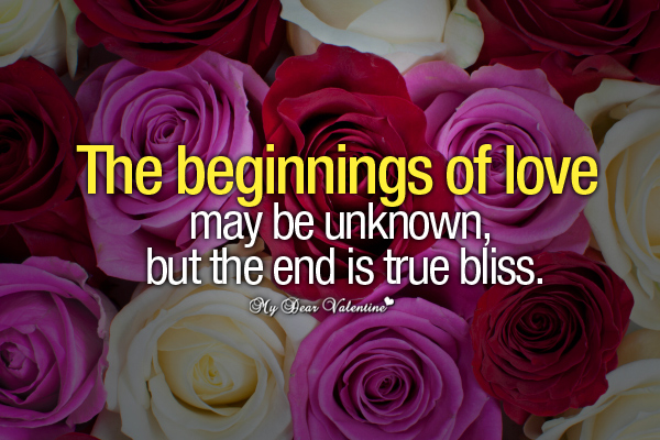 Love Picture Quotes - The beginnings of love