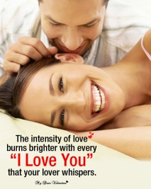 Love Picture Quotes - The intensity of love