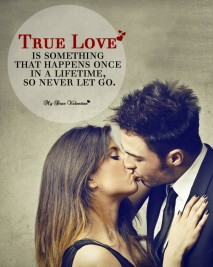 Love Picture Quotes - True love is something