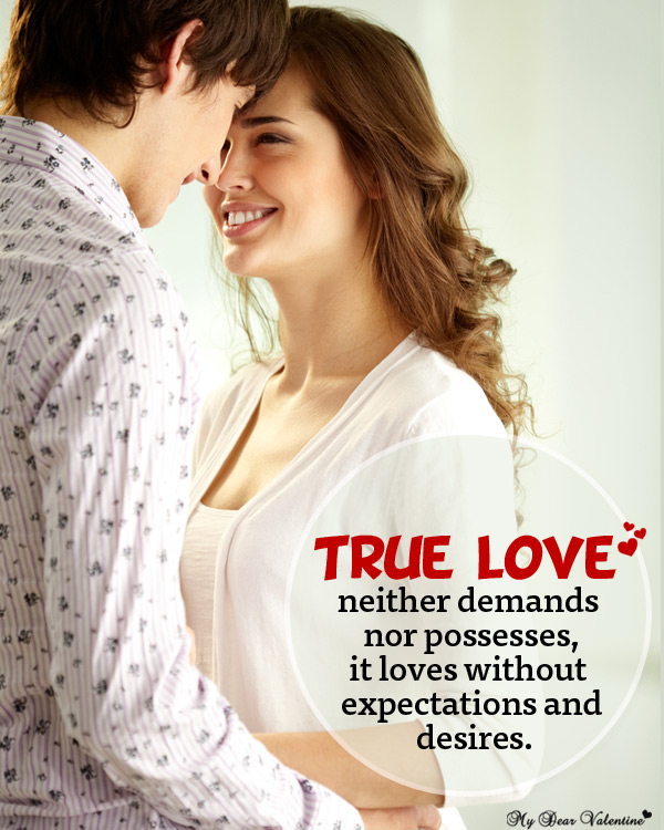 Life Picture Quotes - True love neither