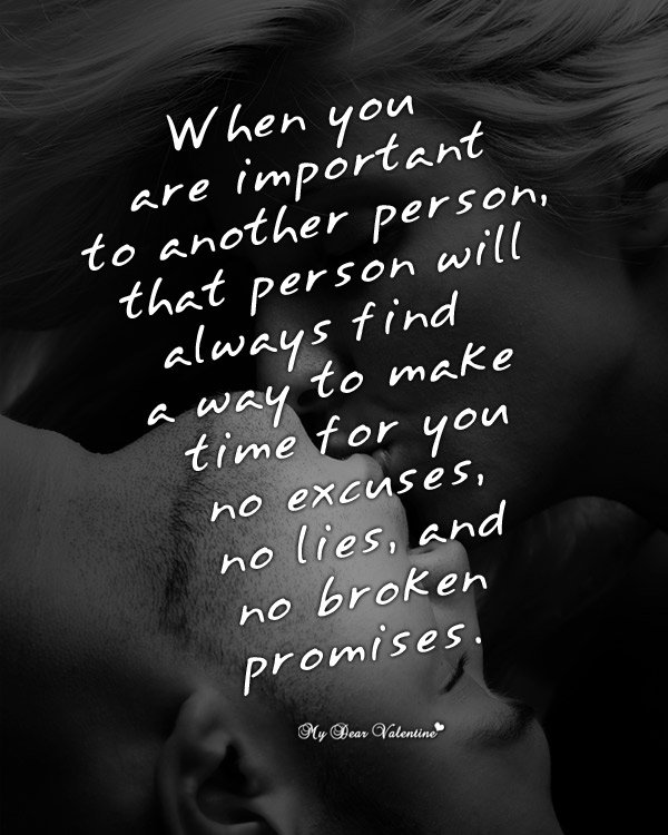 Love Picture Quotes - When you are important