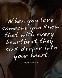 Love Picture Quotes - When you love someone