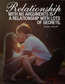 Love Quotes - Relationship with no arguments
