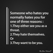 Love Quotes - Someone who hates you
