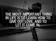 Love Quotes - The most important thing in life is to learn