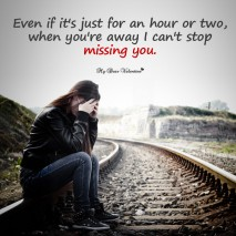 Missing You Picture Quote - Even if its just