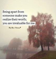 Missing You Picture Quotes - Being apart from someone