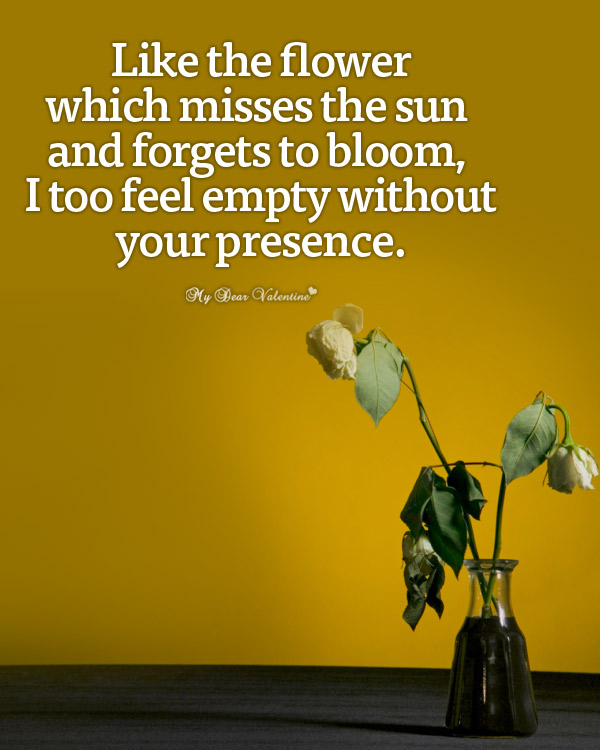 Missing You Picture Quotes - Like the flower