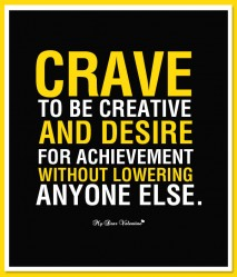 Motivational Picture Quote - Crave to be creative