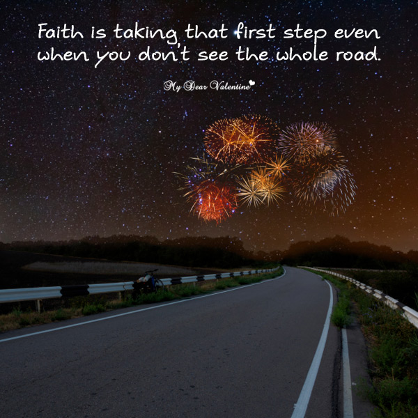 Motivational Picture Quote - First Step