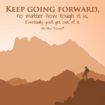 Motivational Picture Quote - Keep moving