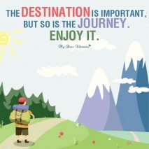 Motivational Picture Quote - Enjoy the Journey