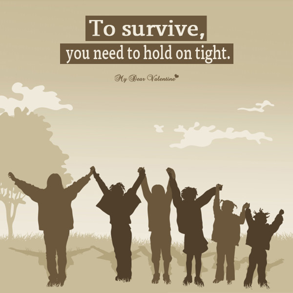 Motivational Picture Quote - Hold On Tight