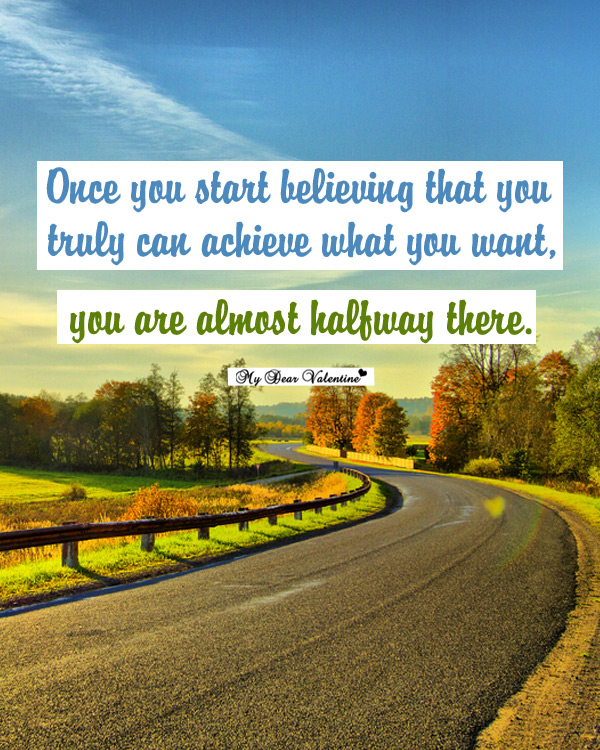 Motivational Picture Quotes - Once you start believing