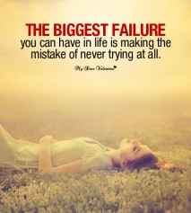 Motivational Picture Quotes - The biggest failure